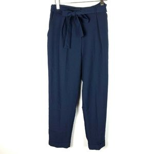 ASOS Navy Blue NWT Belted Trouser Ankle Pants